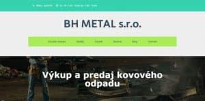 bhmetal .sk redesign web stránky